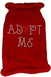 Adopt Me Rhinestone Knit Pet Sweater SM Red